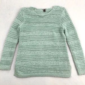 Dana Buchman Open-Knit Sweater - Sea Green